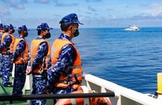 Fin d'une patrouille conjointe entre les Garde-côtes du Vietnam et de la Chine