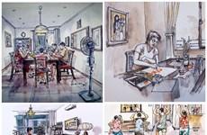 COVID-19 : les dessinateurs d'Urban Sketchers rejoignent la lutte