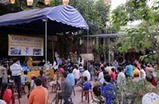 La pagode Phat Tich à Vientiane soutient des Vietnamiens touchés par l'épidémie de COVID-19