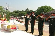 Quang Binh : Inhumation des restes de 26 soldats volontaires et experts vietnamiens tombés au Laos