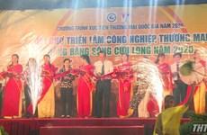 Ouverture du Salon industriel et commercial du delta du Mékong 2020 à Tien Giang