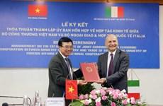 Création d'une Commission mixte de coopération économique Vietnam-Italie