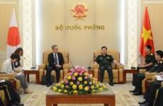 Le ministre de la Défense Ngo Xuan Lich reçoit l'ambassadeur japonais Yamada Takio
