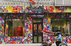 Galerie du peintre français d'origine vietnamienne Cyril Kongo à Hanoï