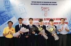 Quatre élèves vietnamiens primés aux Olympiades internationales d'informatique 2020