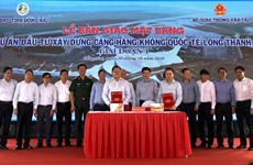 Dong Nai livre le chantier pour la construction de l'aéroport de Long Thanh