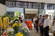 Remise des corps des Vietnamiens décédés dans un accident de la route à Siem Reap (Cambodge)