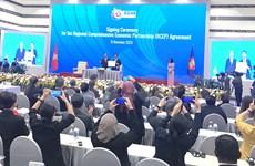 Le RCEP, plus grand accord de libre-échange au monde, signé entre l'ASEAN et cinq partenaires