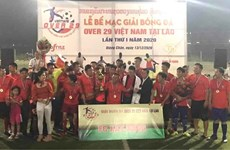 """Tournoi de football """"Over 29 Vietnam"""" au Laos"""