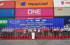 Le port international Tan Cang - Cai Mep accueille le 2.000.000e TEU en 2020
