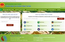 Compléter la base de données sur les ressources naturelles et l'environnement