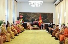 Vesak : le président Nguyen Xuan Phuc reçoit une délégation de l'EBV