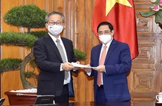 Le Premier ministre Pham Minh Chinh reçoit l'ambassadeur du Japon Yamada Takio