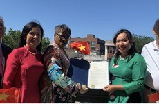 Fête nationale: Drapeau vietnamien hissé à Jersey City (États-Unis)