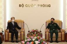 Le vice-ministre de la Défense Hoang Xuan Chiên reçoit l'ambassadeur de Chine au Vietnam