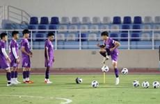 Mondial 2022: l'équipe vietnamienne se prépare pour son match contre Oman