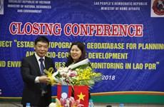 Le Vietnam aide le Laos dans la création d'une base de données géographique