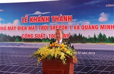 Dak Lak : Inauguration du plus grand complexe solaire au Vietnam