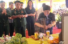 Activités à la mémoire des héros morts pour la Patrie à Quang Tri