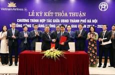 Hanoï et Vietnam Airlines coopèrent dans la promotion de la culture et du tourisme