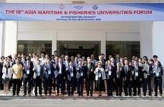 Ouverture du 18e Forum des universités maritimes et de la pêche d'Asie à Hai Phong
