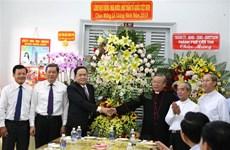 Le président du CC du FPV formule ses vœux de Noël aux catholiques à Can Tho