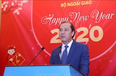 Rencontre avec la presse à l'occasion du Nouvel An 2020