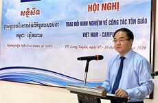 Le Vietnam et le Cambodge partagent des expériences en matière de travail religieux