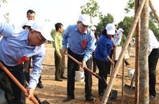 Plantation d'arbres en l'honneur de l'anniversaire du Président Ho Chi Minh
