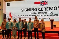 L'Indonésie et le Royaume-Uni achèveront leur revue d'affaires en décembre prochain