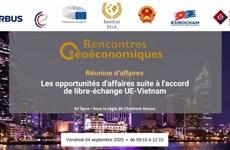 Réunion d'affaires sur l'accord de libre-échange UE-Vietnam en France