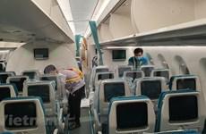 À l'intérieur d'un avion spécial pour rapatrier les Vietnamiens de Guinée équatoriale