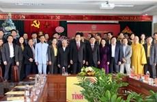 Le président du FPV formule ses vœux de Noël à Nghê An et Thai Binh