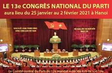Le 13e Congrès national du Parti aura lieu du 25 janvier au 2 février 2021 à Hanoi