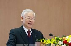 Nguyen Phu Trong exhorte à promouvoir le Renouveau et la mise en œuvre des tâches fixées