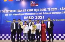 Deux médailles d'or pour le Vietnam aux Olympiades internationales de mathématiques et de sciences