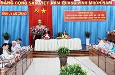 Élections législatives: la présidente de l'AN travaille à An Giang