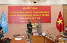 Maintien de la paix : une autre femme officier vietnamienne en mission au Soudan du Sud