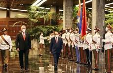 Cérémonie d'accueil en l'honneur du président Nguyen Xuan Phuc à Cuba