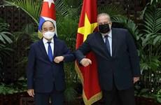 Le président Nguyen Xuan Phuc termine sa visite officielle à Cuba