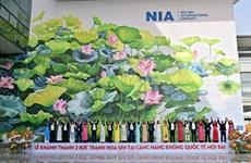 Inauguration de deux fresques de lotus à Hanoï