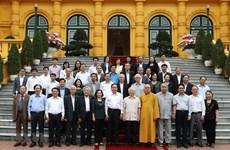 Nguyen Phu Trong rencontre des représentants du Front de la Patrie