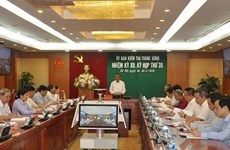 La Commission du contrôle du Comité central du Parti tient sa 35e réunion