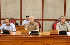 Le BP se réunit sous l'égide du secrétaire général et président Nguyen Phu Trong