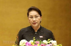 La présidente de l'AN Nguyen Thi Kim Ngan part pour la Chine