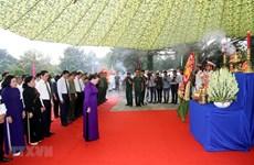 La présidente de l'AN assiste à la cérémonie d'inhumation des restes de martyrs à Tay Ninh