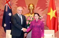 La présidente de l' AN rencontre le Premier ministre australien