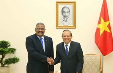 Le vice-PM permanent Truong Hoa Binh rencontre le président de la Cour populaire suprême de Cuba