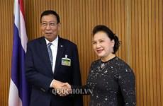 La présidente Nguyen Thi Kim Ngan rencontre le président du Sénat thaïlandais