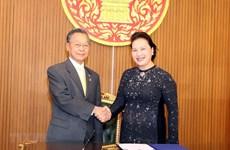 Entretien Nguyen Thi Kim Ngan - Chuan Leekpai